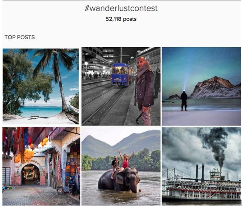 wanderlust instagram content